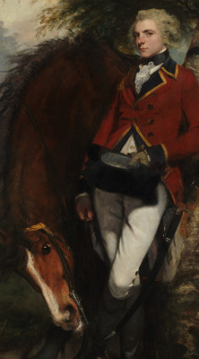 Joshua Reynolds. Portrait of Colonel George C. G. Kausmeyker. Fragment