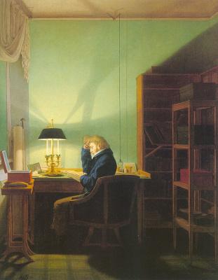 Georg Friedrich Kersting. Reading
