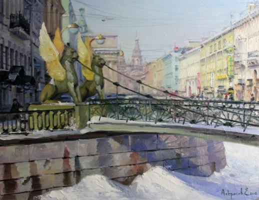 Евгений Николаевич Некрасов. Март на Банковском мосту