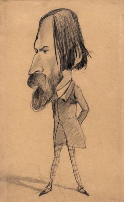 Claude Monet. Caricature Of Auguste Vaskuri
