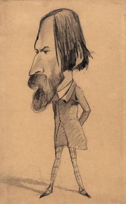 Клод Моне. Карикатура Огюста Васкюри