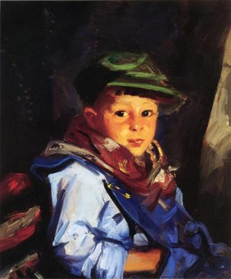 Роберт Генри. Мальчик в зеленой кепке