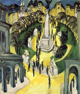 Ernst Ludwig Kirchner. Belle-Alliance-Platz in Berlin (now Mehringplatz)