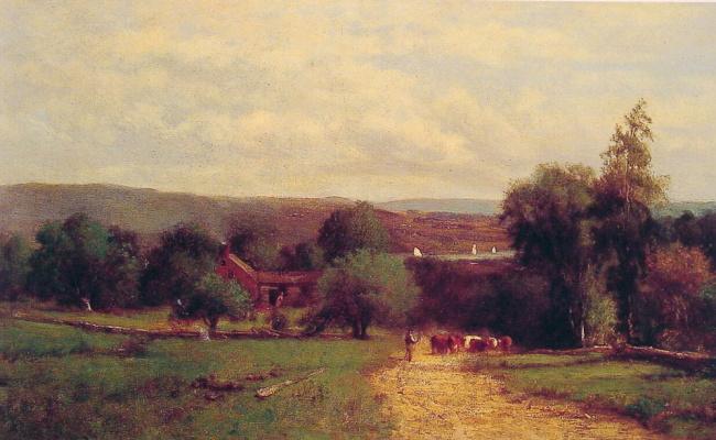 George Innes. Cows