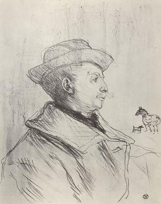 Анри де Тулуз-Лотрек. Кальмез, его конь и его собака