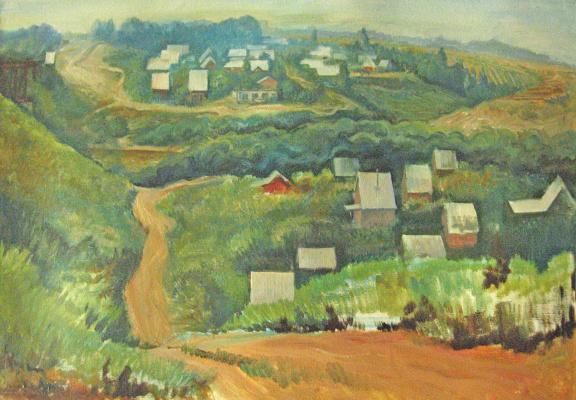 Александр Викторович Беляков. Summer cottages near Omsk. The road to the river.