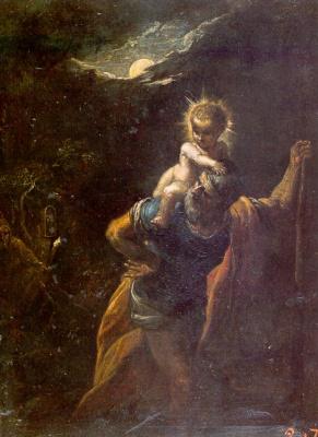 Adam Elsheimer. Saint Christopher