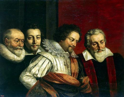Франс Пурбус Младший. Групповой портрет четырех советников Парижского магистрата