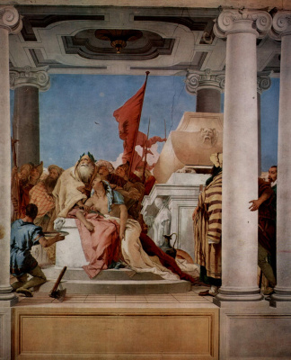 Giovanni Battista Tiepolo. The sacrifice of Iphigenia. The frescoes of the Villa Valmarana, Vicenza