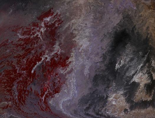 """Alla Struchayeva. Painting """"Galactic Dragons"""""""