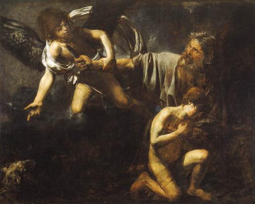 Valentine de Boulogne. Abraham sacrifices Isaac