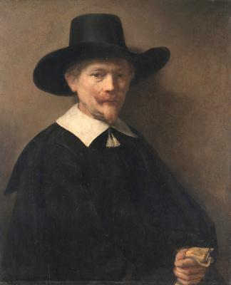 Рембрандт Харменс ван Рейн. Портрет человека с перчатками