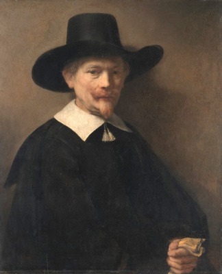Rembrandt Harmenszoon van Rijn. Portrait of a Man Holding Gloves
