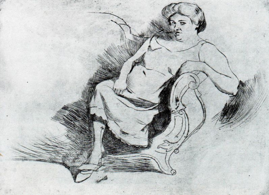 Umberto Boccioni. The woman on the bench