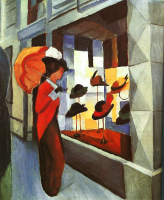 August Macke. Lady under the umbrella