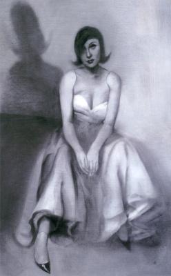 Эшли Вуд. Сидящая девушка