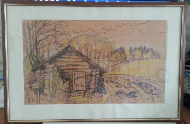 Natalia Gennadievna Torlopova. Autumn in the village: the bathhouse.