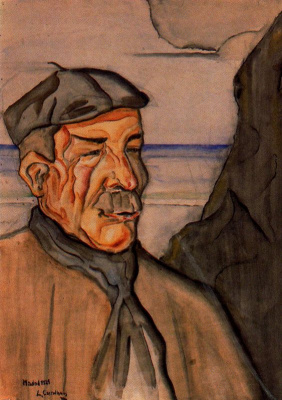 Луис Кастельянос. Мужчина в кепке с усами