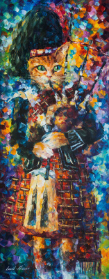 Leonid Afremov. SCOTTISH CAT