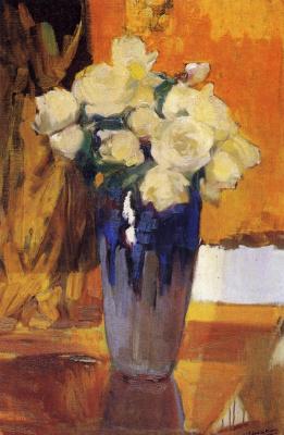 Joaquin Sorolla (Soroya). White roses from the home garden