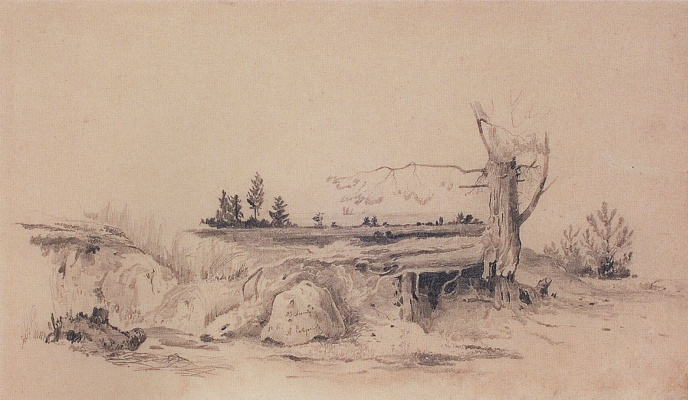 Alexey The Kondratyevich Savrasov. The Gulf coast. Landscape with a hut