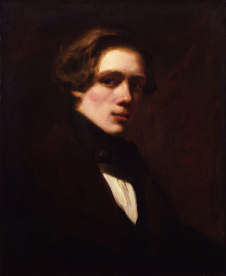 William Frayth Powell UK 1819-1909. Self portrait. 1838