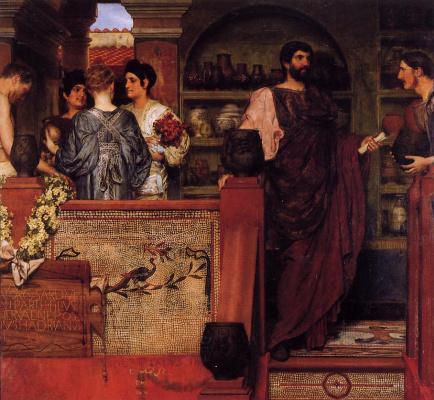 Лоуренс Альма-Тадема. Адриан посещает римско-британскую гончарную мастерскую