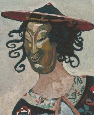 Женщина в японской маске