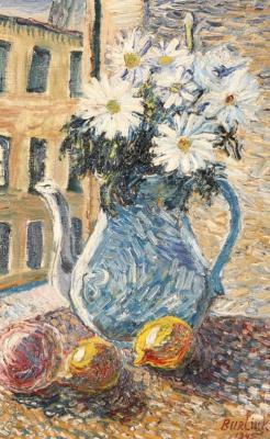 Давид Давидович Бурлюк. Натюрморт с цветами