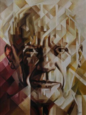 "Vasily Krotkov. The ""p"" in Cuba. (Portrait Of Pablo Picasso). Post-kubofuturizm"