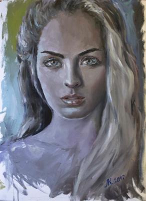 Мила Канеева. Портрет неизвестной девушки