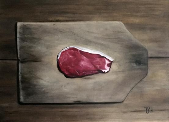Regina Muller. On the cutting board