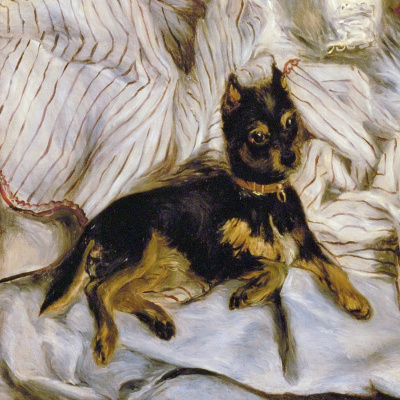 Pierre-Auguste Renoir. Nude with griffin (detail)