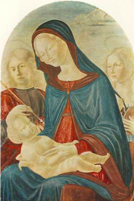 Нероккио Де Ланди. Мадонна с младенцем, Святым Себастьяном и Святой Екатериной