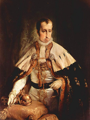 Francesco Ayets. Portrait of Emperor Ferdinand II of Austria