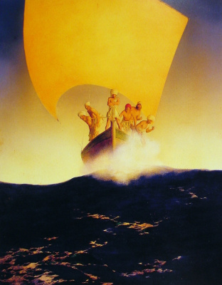 Maxfield Parrish. Arabian fairy tales. The story of Prince Kodadad and his brothers