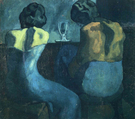 Pablo Picasso. Two women sitting at the bar