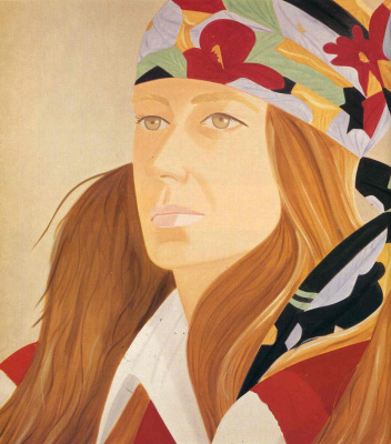 Alex Katz. The girl in the bandana
