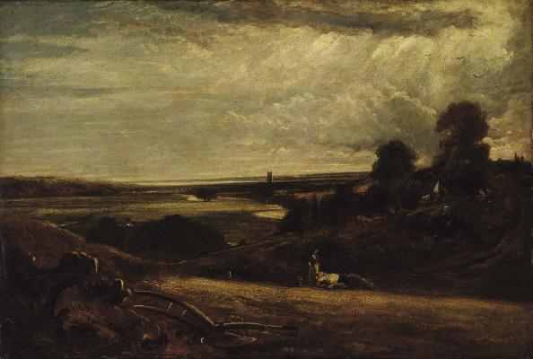 John Constable. Valley Of Dedham. Summer morning