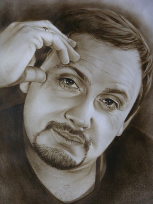 Хельга Эдуардовна Григорьева. Portrait Of Stas Mikhailov.Graphics.