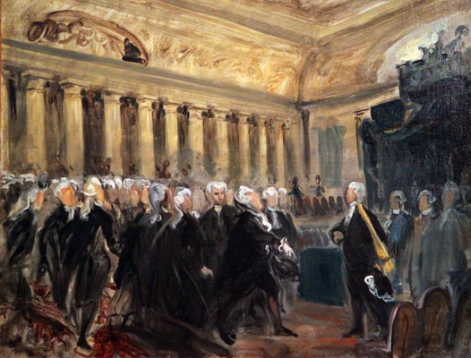 Эжен Делакруа. Мирабо и Дрё-Брезе 23 июня 1789