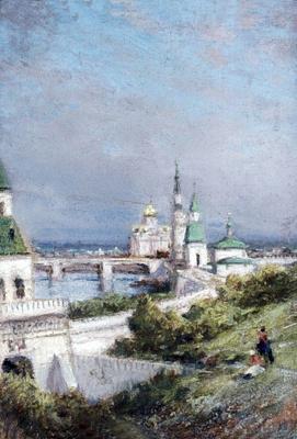 Alexey Petrovich Bogolyubov. Moscow. View of the Kremlin