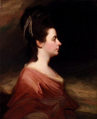 George Romney. Portrait of Harriet Gale, wife of John Blanchard