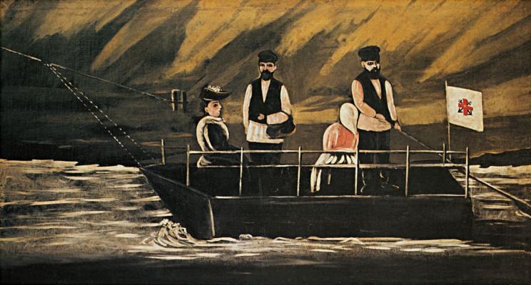 Niko Pirosmani (Pirosmanashvili). Ferry in Didube