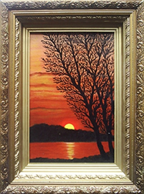 Victor Petrovich Burmin. Sunset over the river.