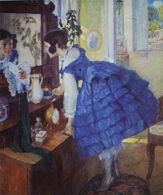 Ольга Людвиговна Делла-Вос-Кардовская. «Маленькая женщина (Дочь художницы Екатерина Кардовская)» 1910