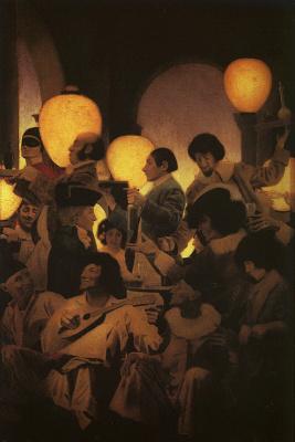 Maxfield Parrish. The Venetian Night