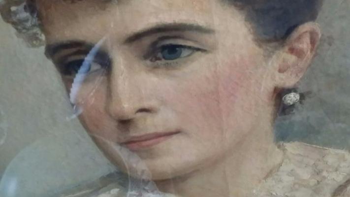 Алексей Иванович Корзухин. Предположительно портрет дочери Анны Алексеевны Корзухиной-Вер, 1892г.