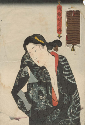 Utagawa Kunisada. Woman after bath