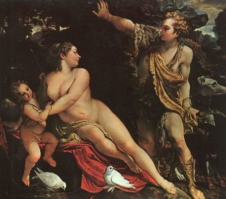 Annibale Carracci. Venus, Adonis and Cupid